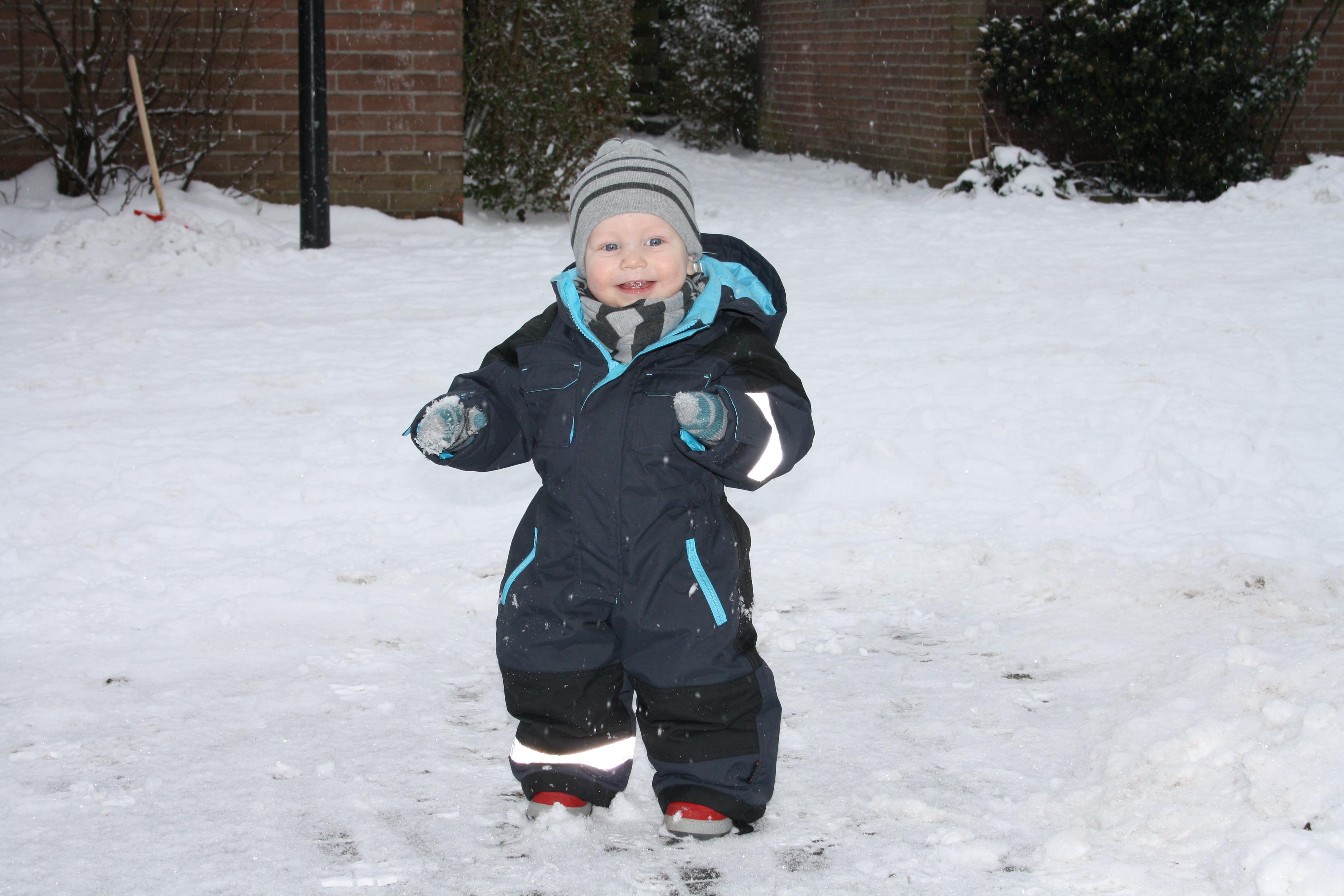 Devlin in de sneeuw